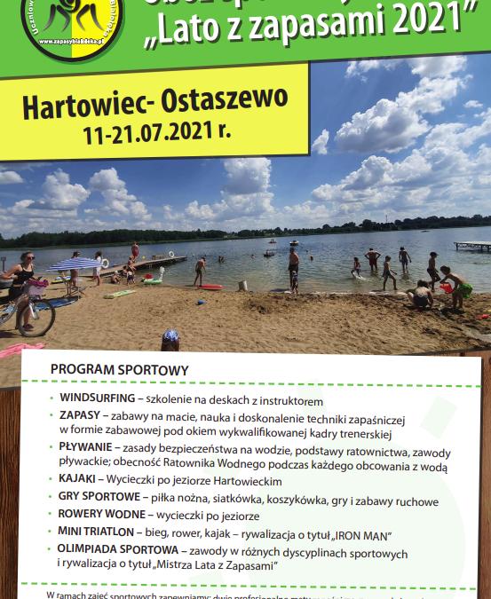 Obóz sportowy Lato z zapasami 2021 po raz kolejny w Hartowcu!!! Zapraszamy do zapoznania się z ofertą!!! Ilość miejsc ograniczona!!!